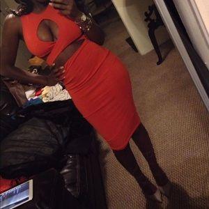 Orange Bandage Dress